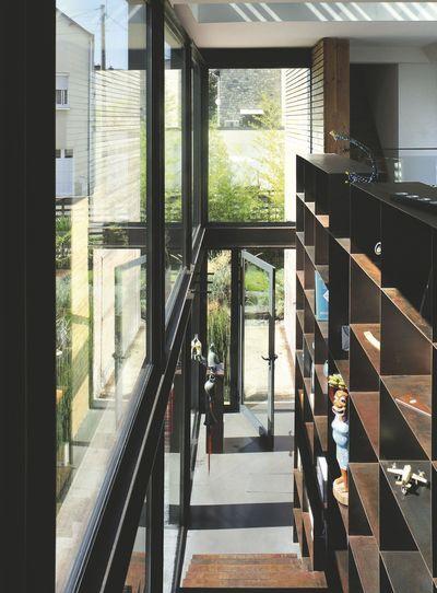 Maison bois  extension du0027une maison de ville de 45 m2 Living - maison en bois et en pierre