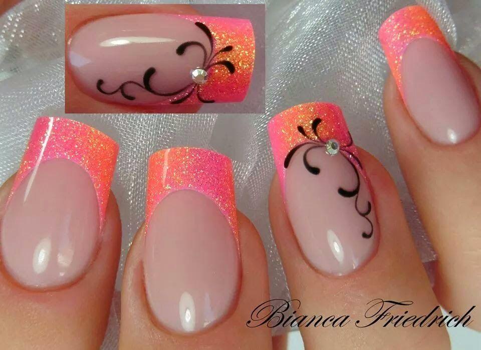 Orchid Nail: Pas à Pas par Bianca F.   nails   Pinterest   Orchid ...