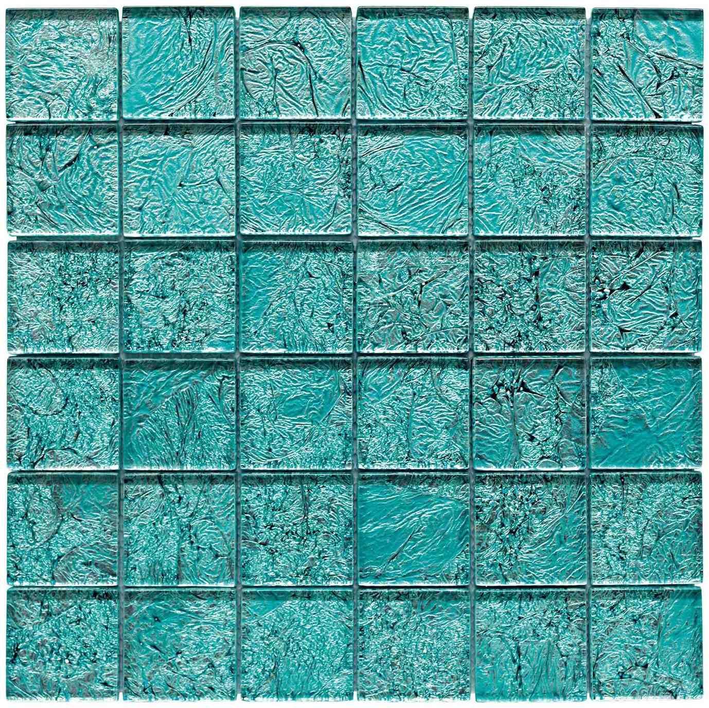 Gresite cristal 48x48 mm 8 mm de espesor silver blue for Colores de gresite