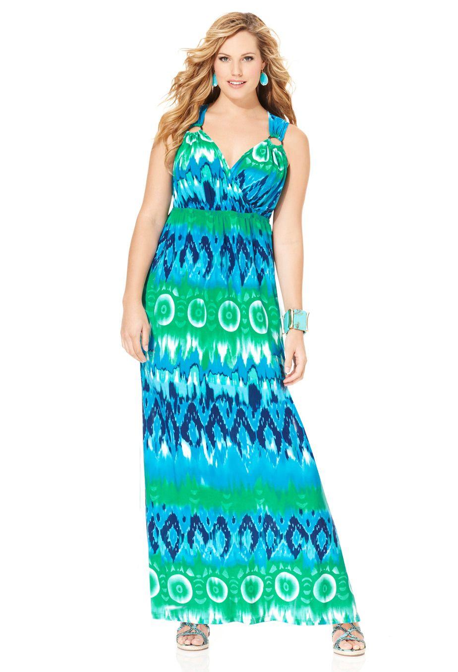 Plus Size Mixed Blue Ring Maxi Dress Plus Size Avenue Clearance Avenue Dresses Plus Size Maxi Dresses Plus Size Fashion [ 1356 x 924 Pixel ]