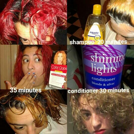 Red Hair Dye Removal Color Oops Dyed Red Hair Hair Dye Removal