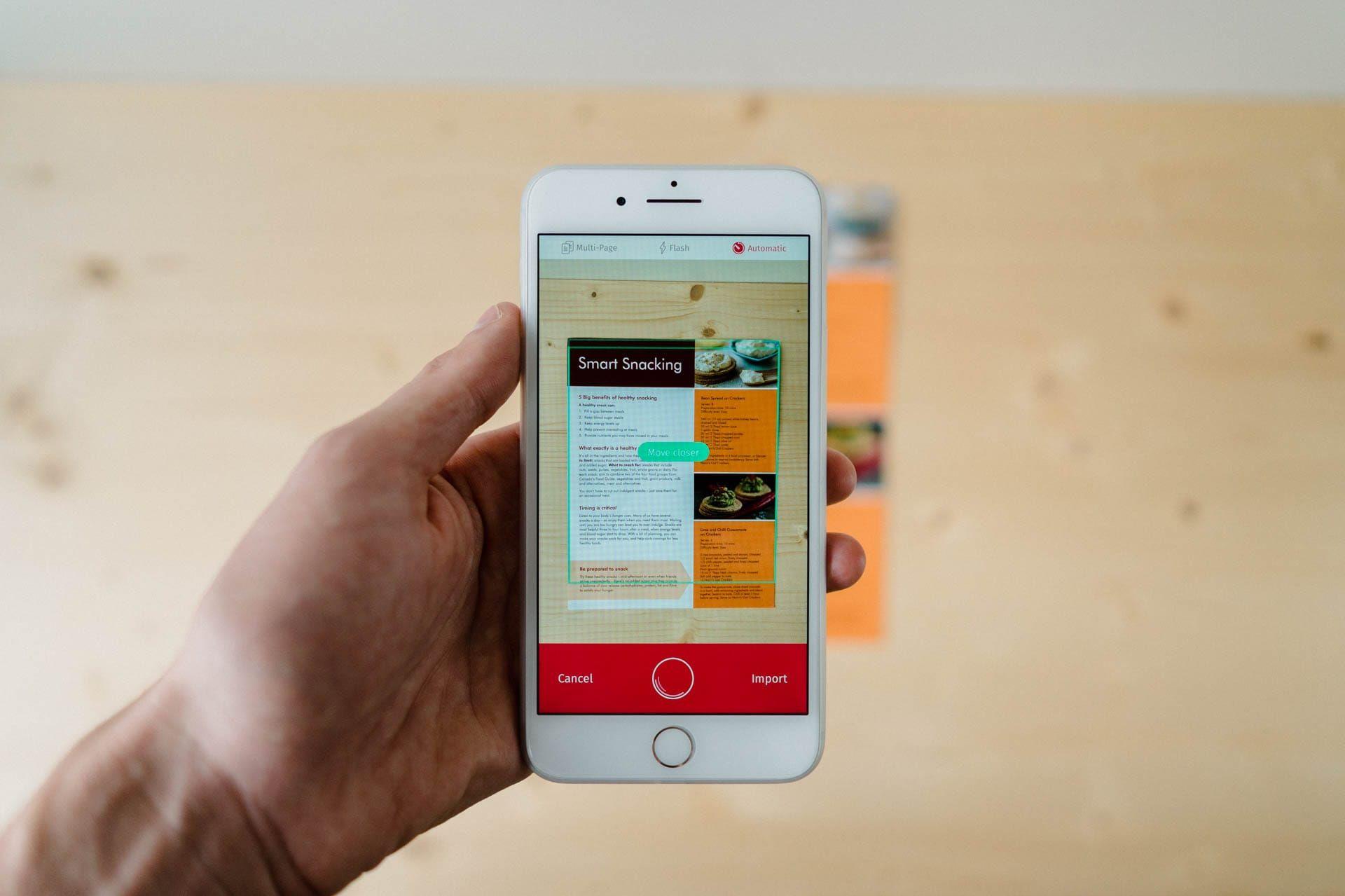 Scanbot Scanner app, Best scanner app, Ipad