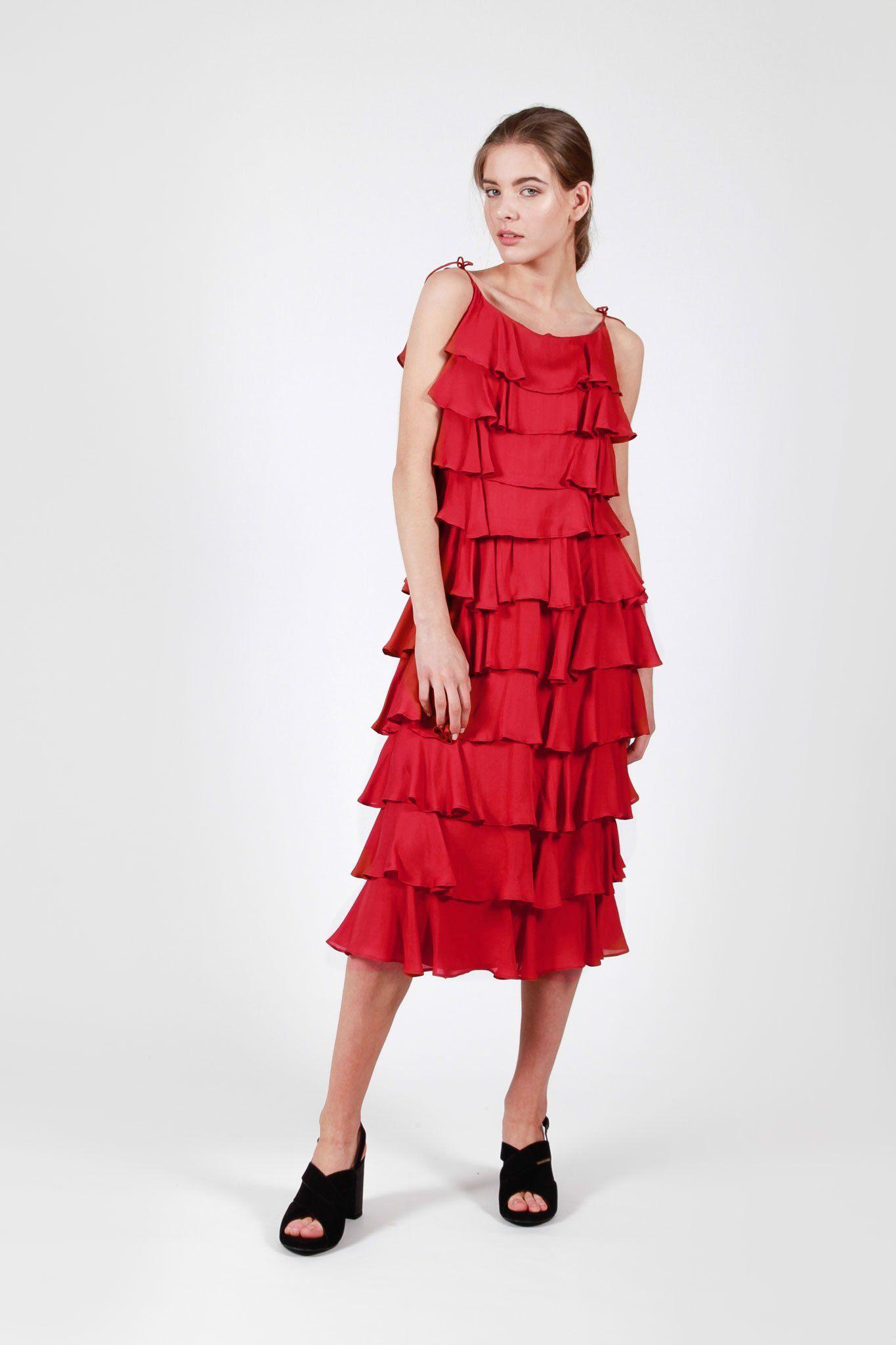 331c931010 salir dress red – búl