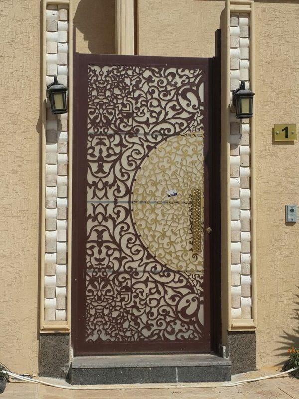 تصنيع وتوريد ابواب خشب والمنيوم وحديد Wrought Iron Doors Decorative Metal Screen Iron Doors