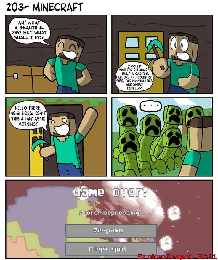 Minecraft Comic Minecraft comics, Minecraft funny