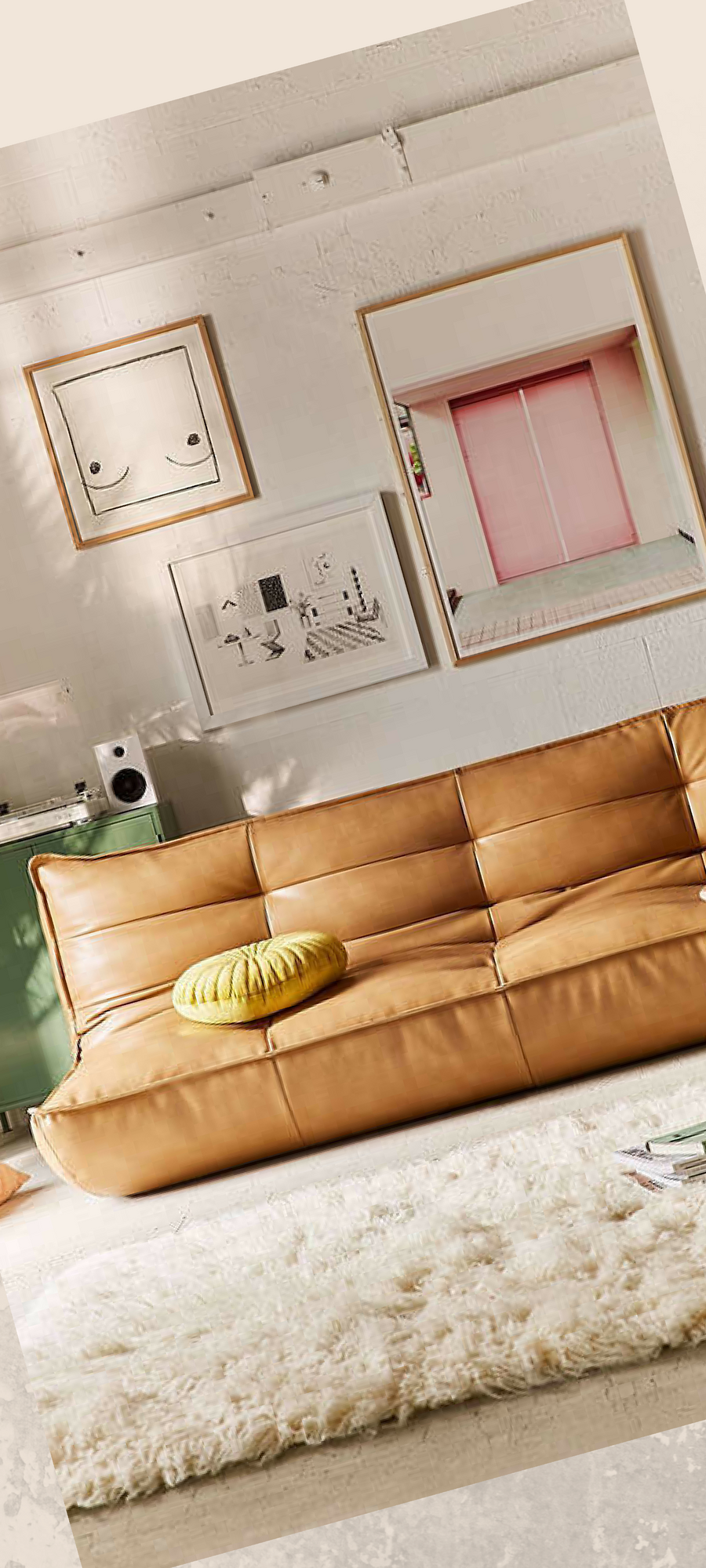 Our extra-large Greta legless sleeper sofa reclines from a ...