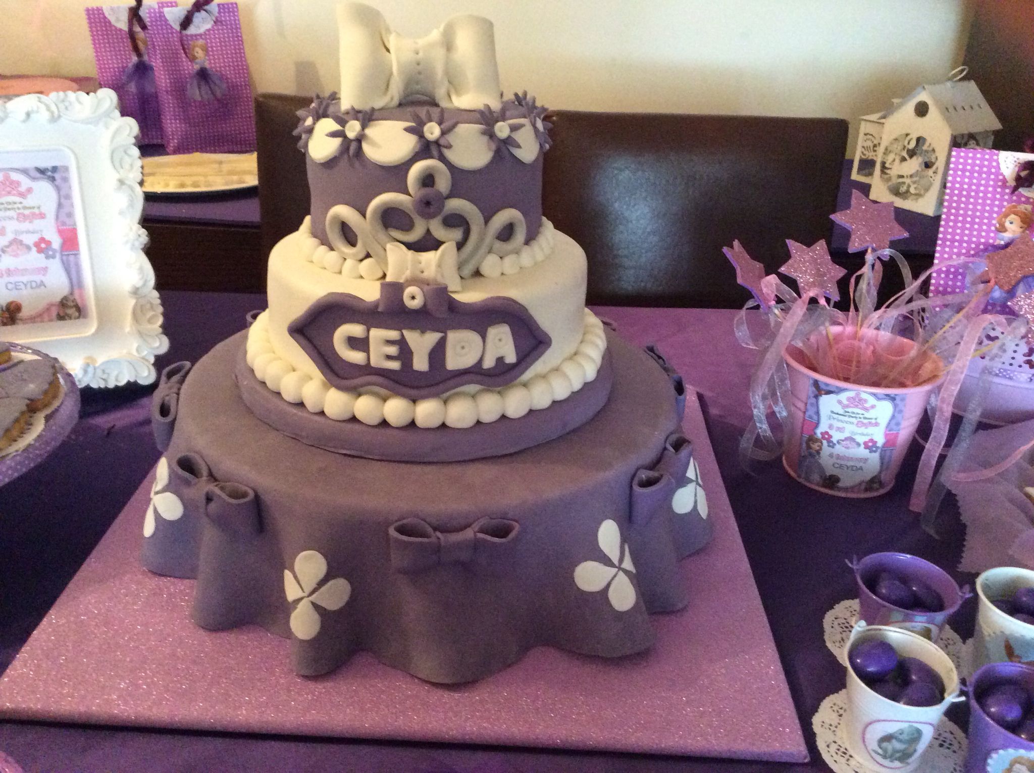 Sofia The First Birthday Cake Ceydas 3th Birthday Pinterest