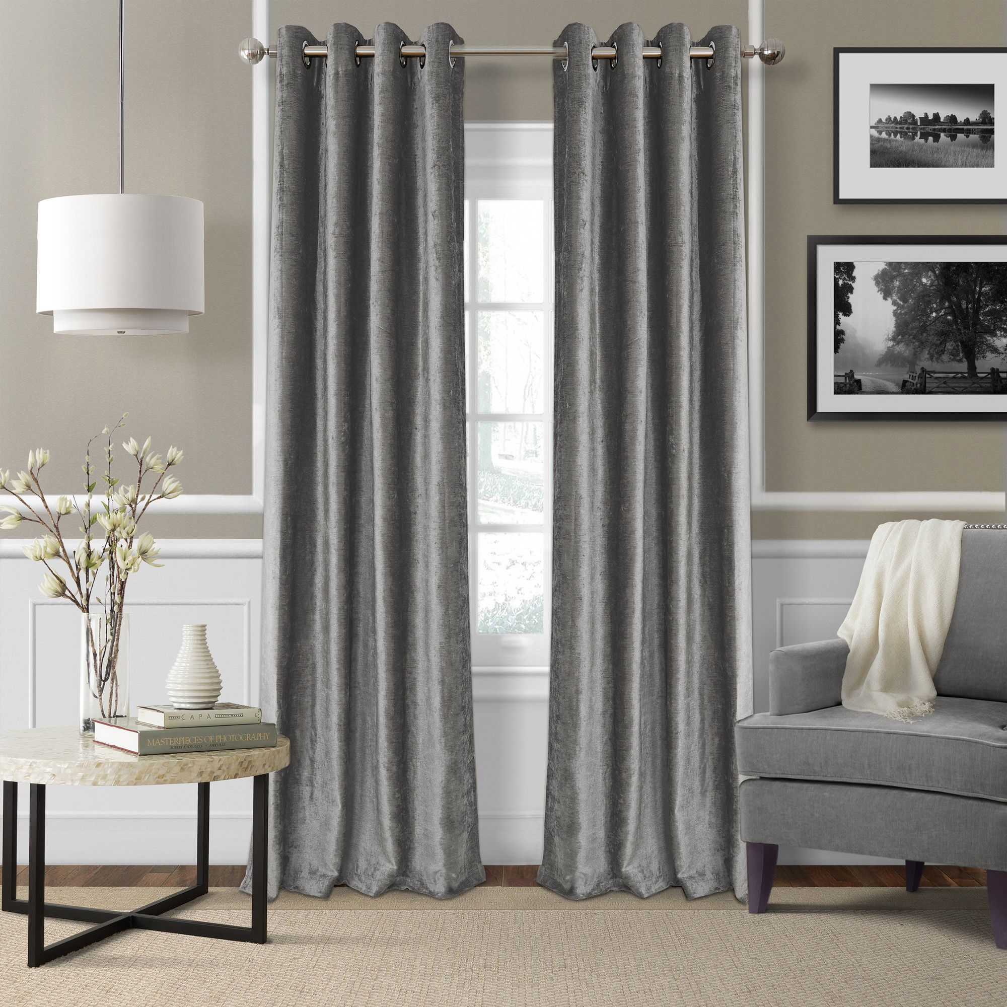 Victoria velvet single curtain panel products pinterest products