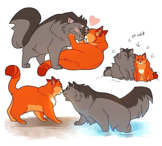 Warriors Erin Hunter Squirrelflight: Bramblestar And Squirrelflight #catsdiydrawing