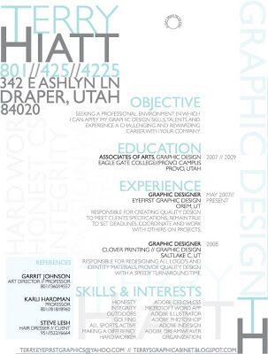 terrysgraphicabinet Terry Hiatt Resume look at skills, can at - what does a resume look resume