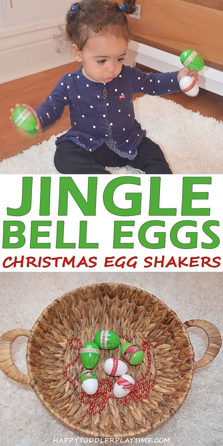 Jingle Bell Egg Shakers  HAPPY TODDLER PLAYTIME Jingle Bell Egg Shakers  HAPPY TODDLER PLAYTIME