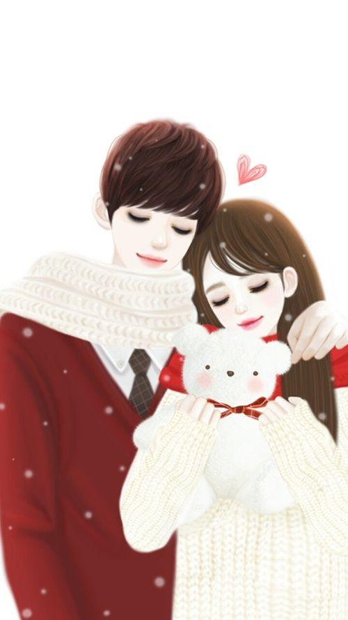 Pin By Mist On Cute Couple Wallpaper Cute Couple Wallpaper Cute Couple Cartoon Cute Love Cartoons