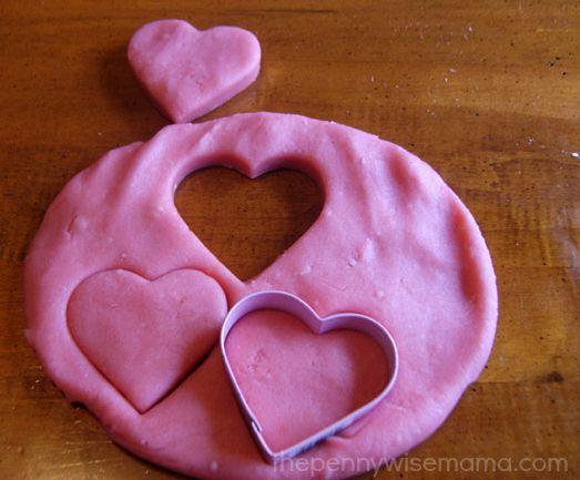 Pink lemonade-scented play dough