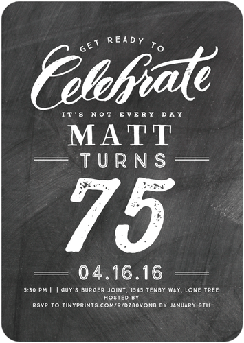 Personalized 75th Birthday Invitations Are Available In 3 Colors Love The Emphasize On 75