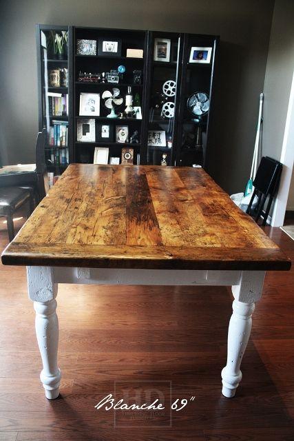 Reclaimed Wood Harvest Table With Epoxy Polyurethane Finish Ontario Barnwood CambridgeON By HD Threshing Floor Furniture Hdthreshing