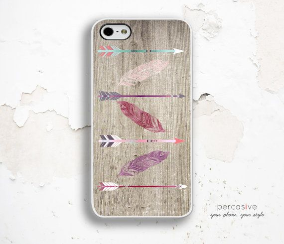 iPhone 6 Case Tribal Arrow iPhone 5S Case Feather  by Percasive