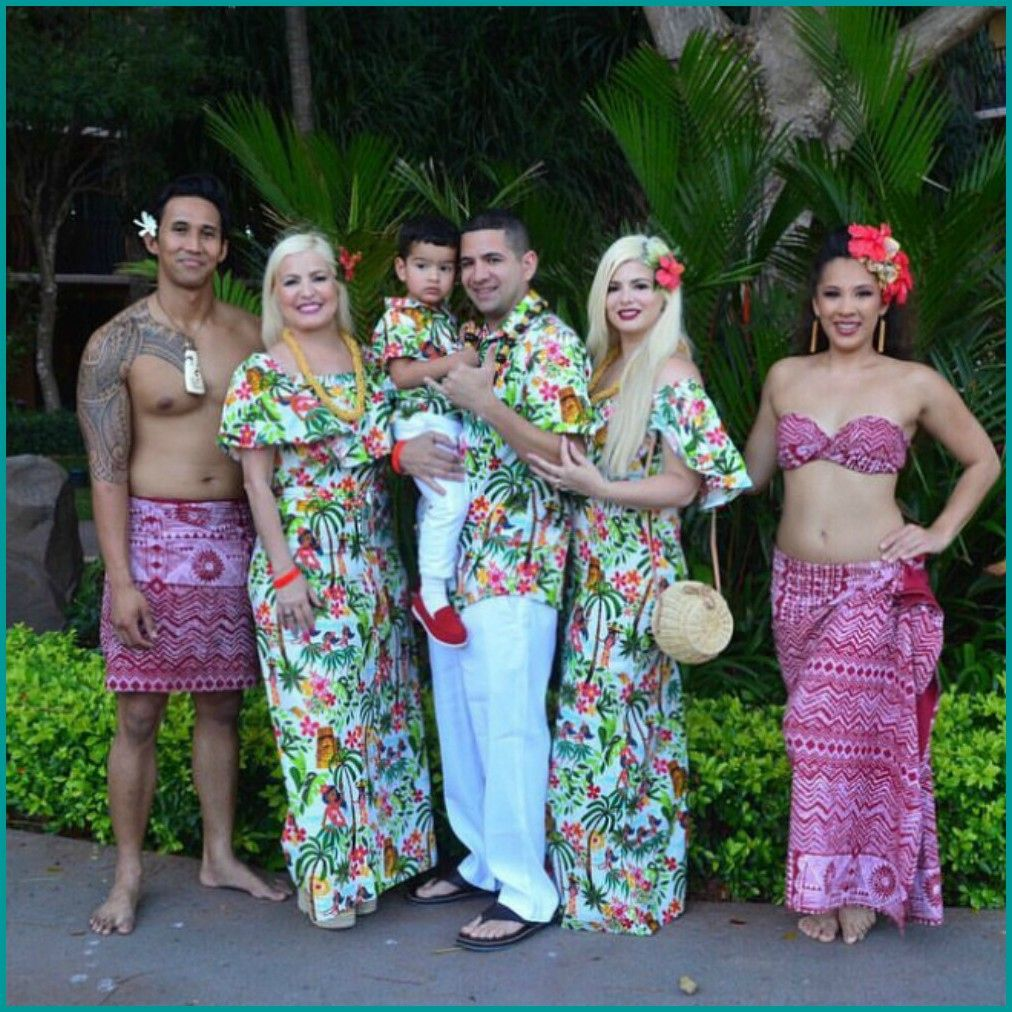 Daddy and us Hawaiian Sets Luau Party in Hawaiian inspired fabric vacations cruise...