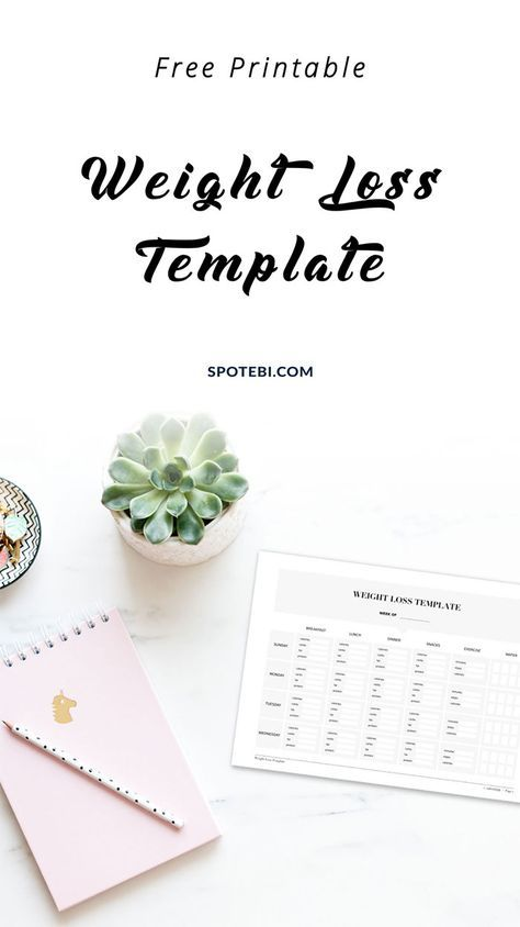 weight loss template free