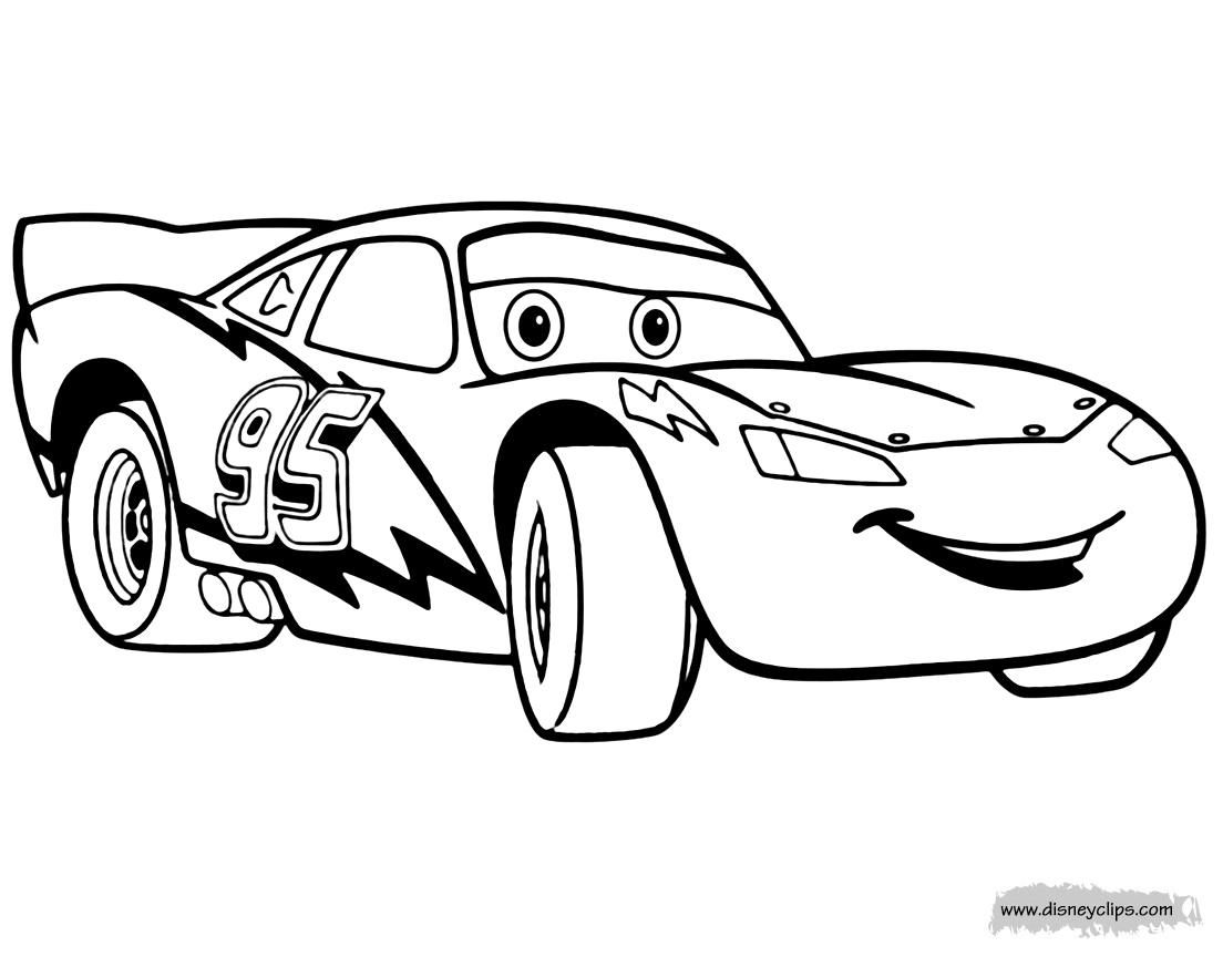 10 Coloring Page Lightning Mcqueen Disney Coloring Pages Truck Coloring Pages Race Car Coloring Pages