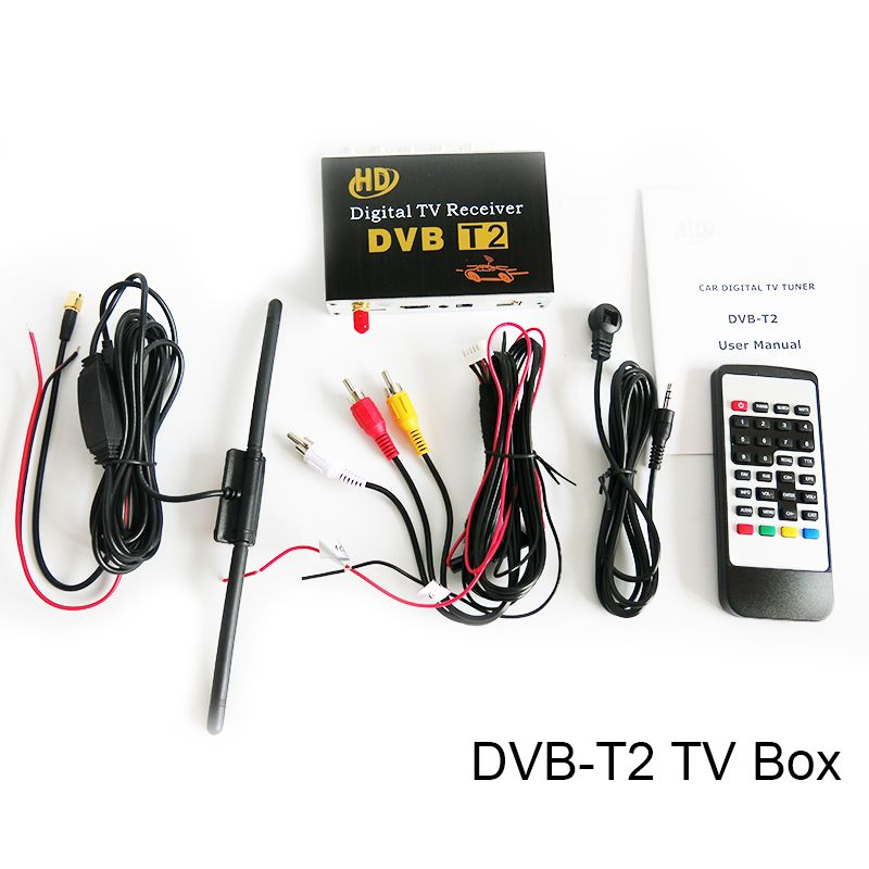 Sinairyu H 264 60KM/H PVR DVB-T2 MPEG-4 Digital TV Box for Car