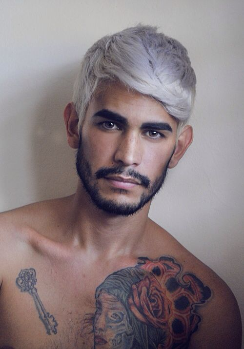 Ash Blonde Grey White Mens Hair Colour Men Hair Color White Hair Color