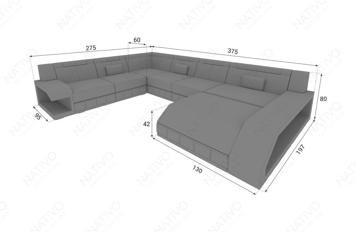 Dimensions Canape Design Matis Xxl Ecl Led Nativo Mobilier France Canape Design Canape En U Canape