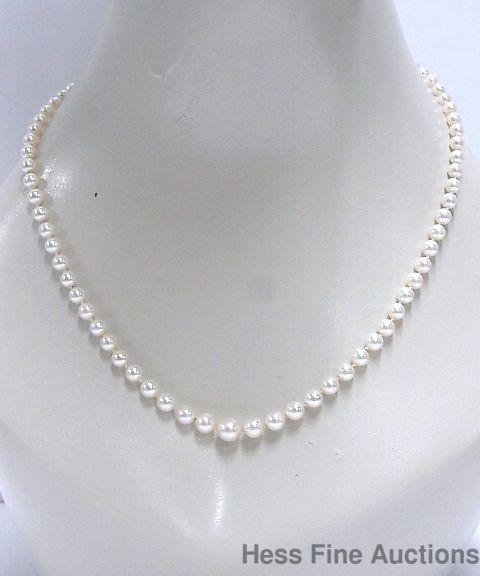 3831ecc3cca99 Vintage 1950s High Grade Japanese Cultured Pearl 4to8mm Graduated ...