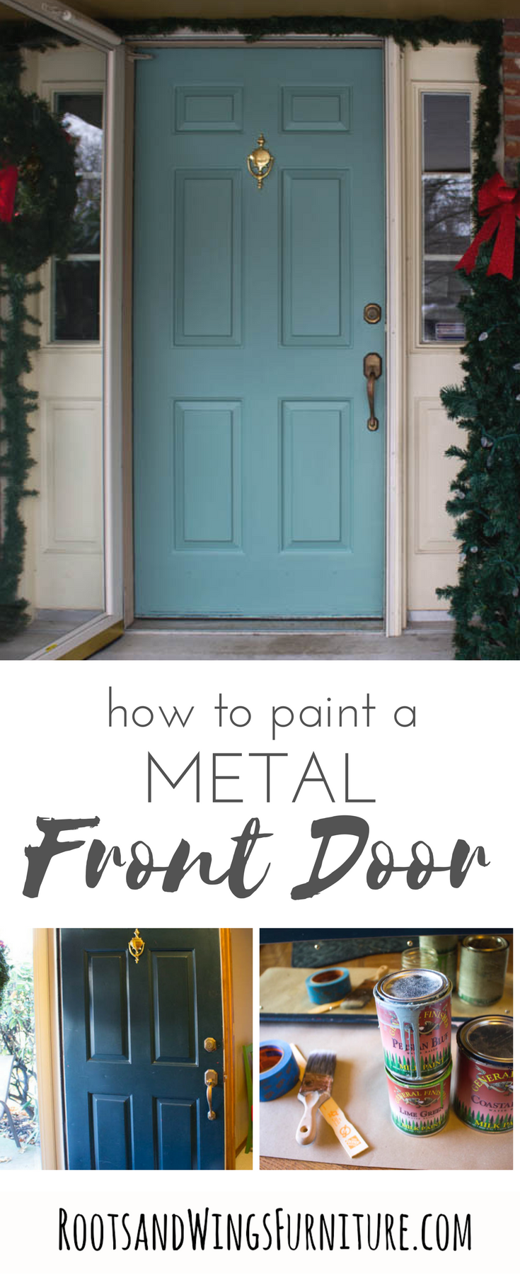 Quick And Easy Front Door Makeover Painted Front Doors Metal