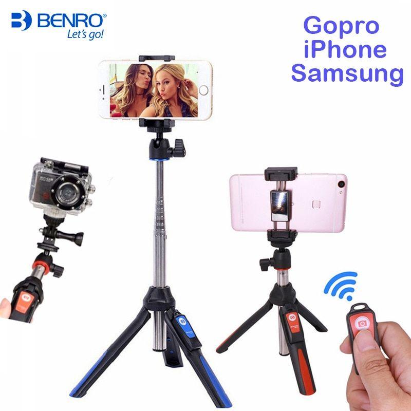 Benro bluetooth selfie stick tripod mk10 extendable self