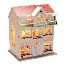 Casa de mu eca de diy sue o de hadas modelo de construcci n 3d hechos a mano en miniatura casa - Casas en miniatura de madera ...