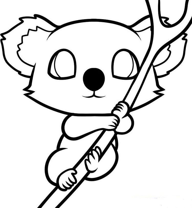 Cute Baby Koala Coloring Pages Koala Drawing Baby Animal Drawings Cute Animal Drawings