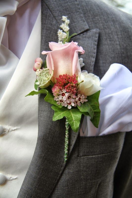 The Bride Groom's Faith Rose and Lily of the Valley Boutonniere