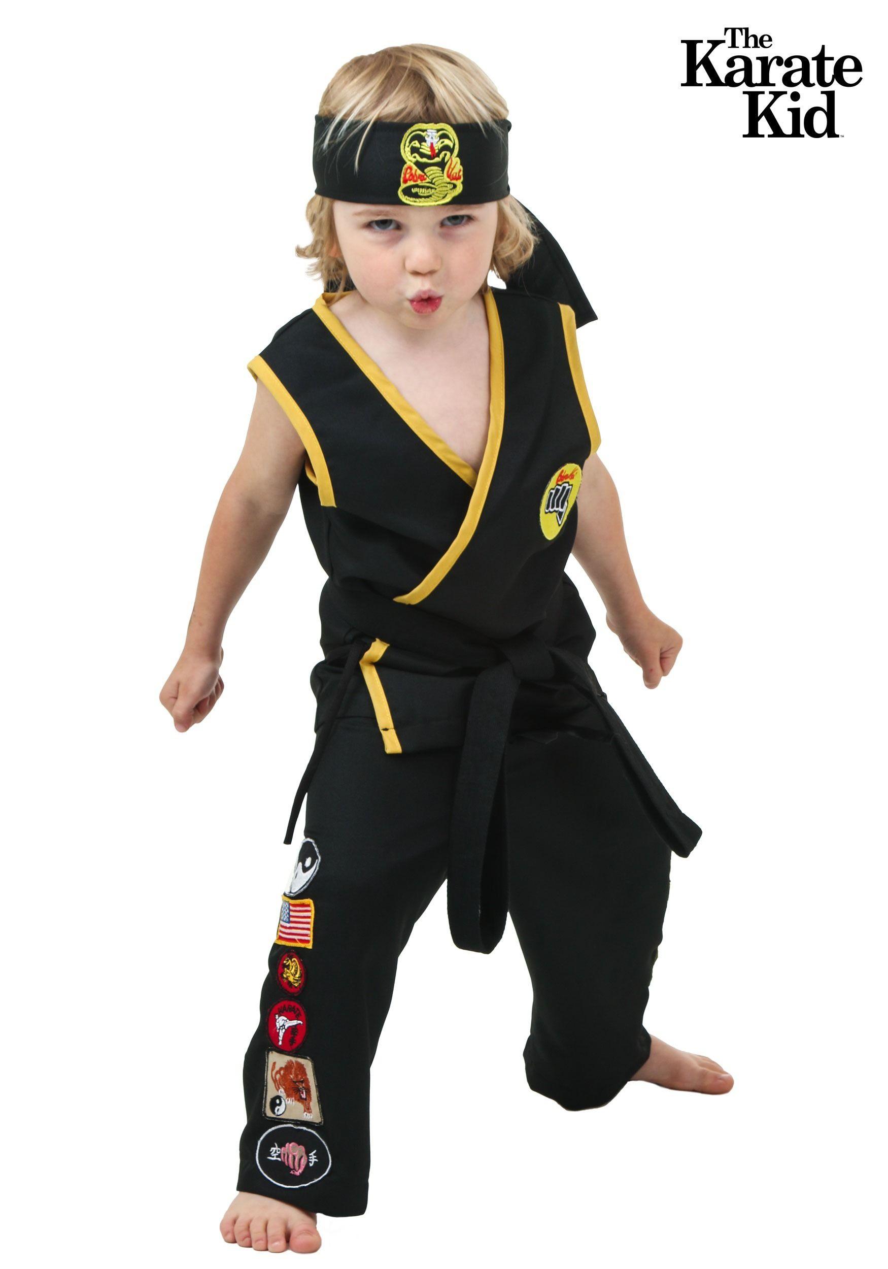 Toddler Cobra Kai Costume Kids costumes girls, Karate