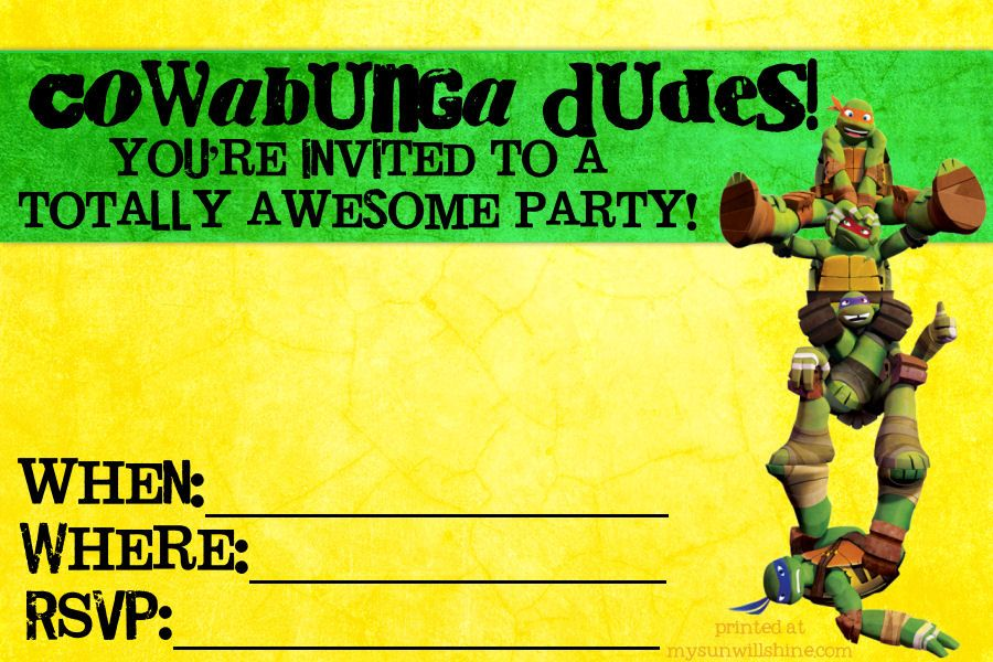 free ninga turtle invites | ... /04/diy-teenage-mutant-ninja-turtle ...