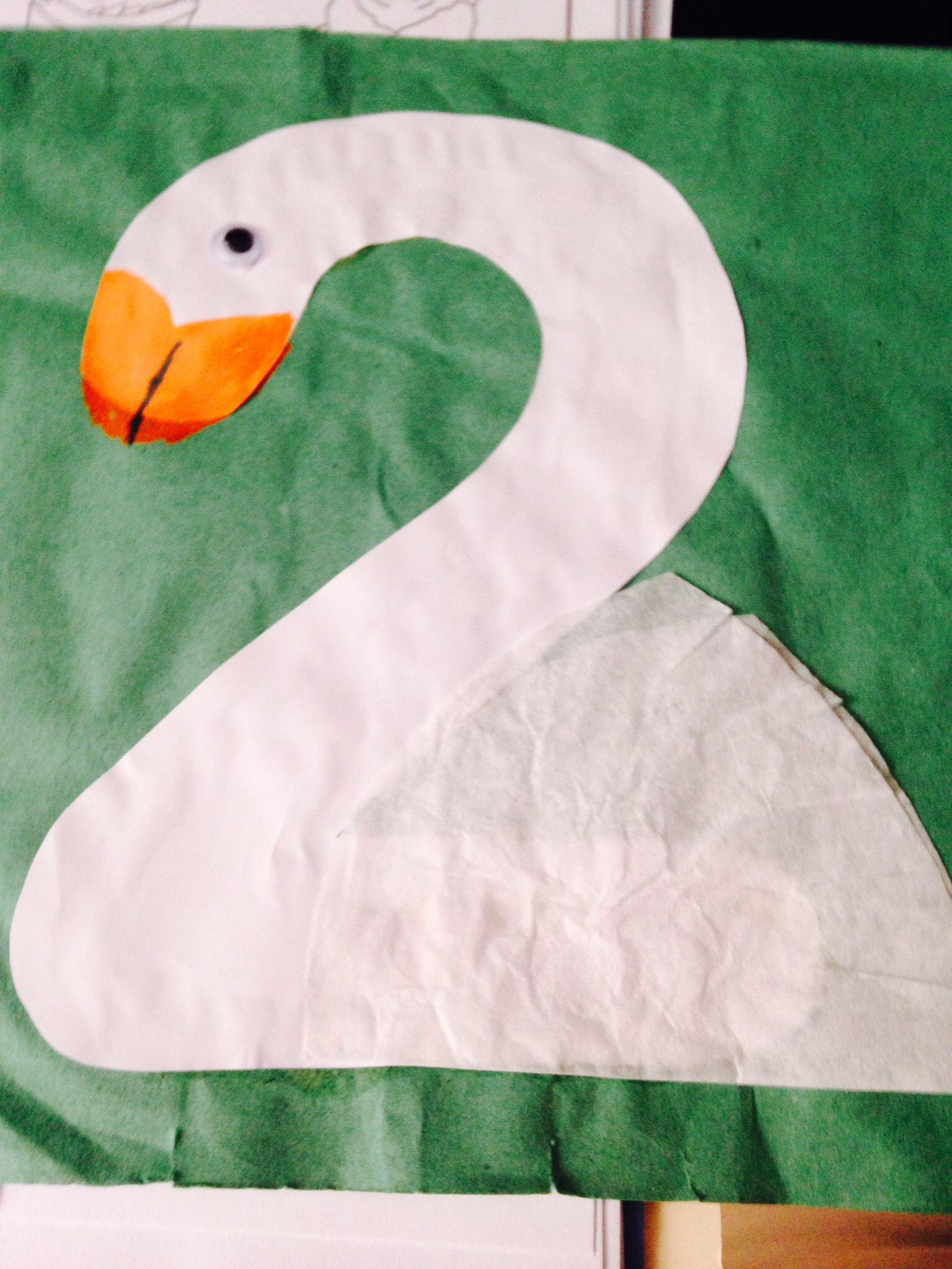Number 2 swan | road to preschool fun | Pinterest | Swans ...