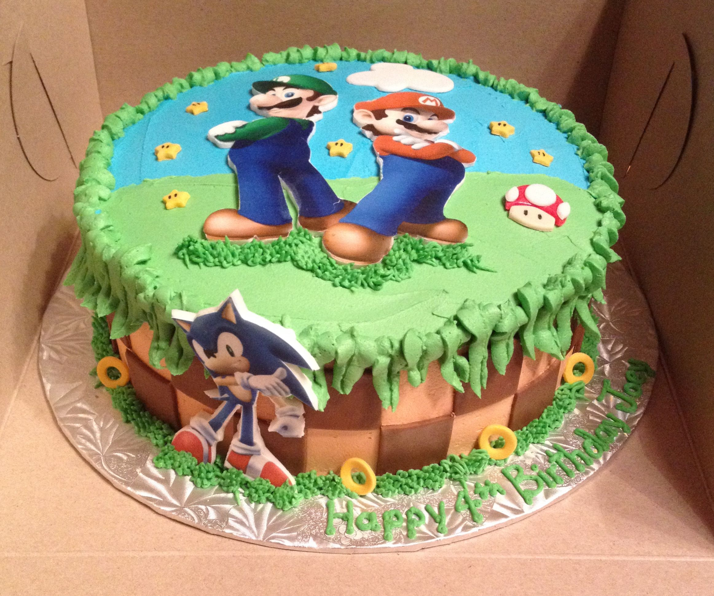 Mario Luigi And Sonic Cake By My Sweet Obsession By Lori