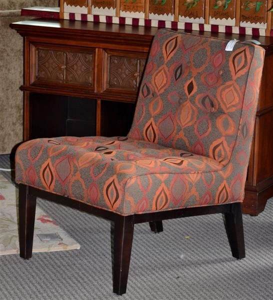 Contemporary Armless Chair Found At Design With Consignment In