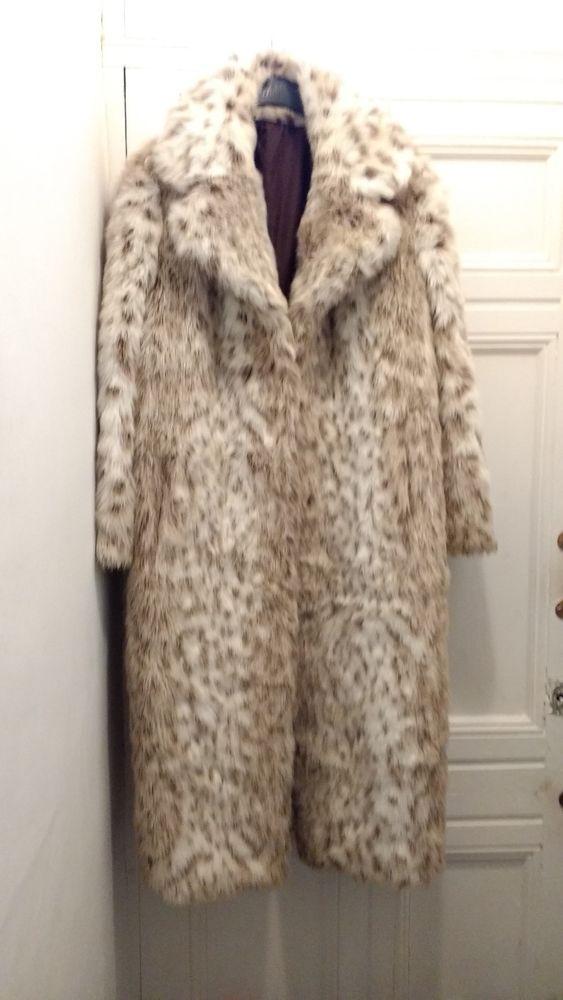Snow Leopard Faux Fur Coat Uk, Snow Leopard Fake Fur Coat
