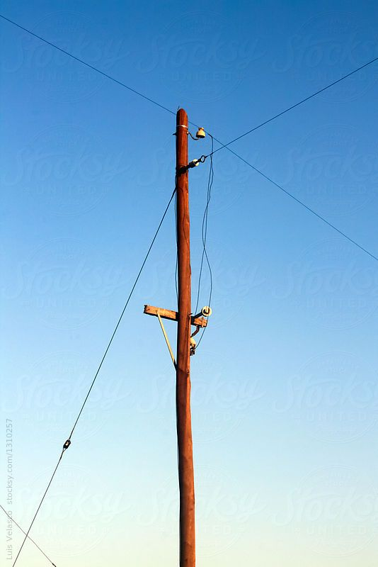 Wires and telephone pole by Luis Velasco for Stocksy United | Andean ...