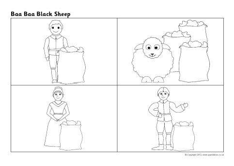 Baa Baa Black Sheep Sequencing Sheet Sb8815 Sparklebox