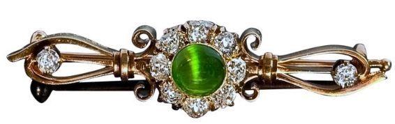 demantoid brooch