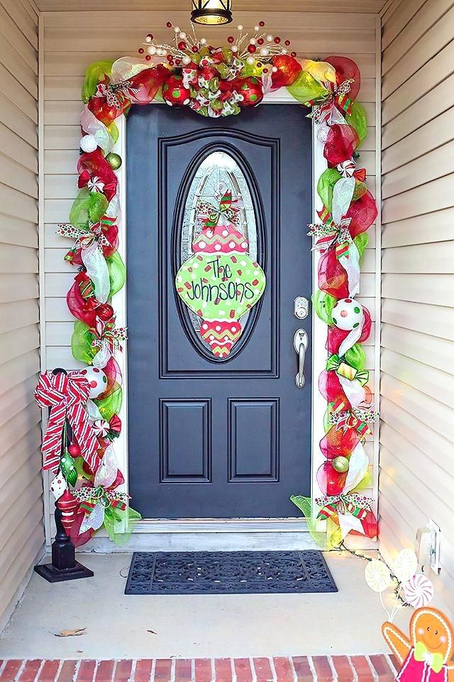 Image result for front door christmas garlands Christmas deco