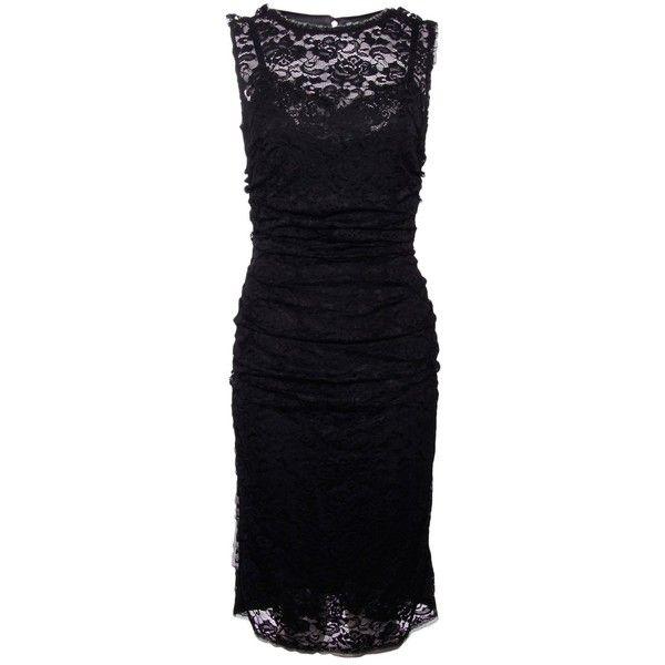 Dolce & Gabbana Black Lace Dress ($1,490) ❤ liked on Polyvore
