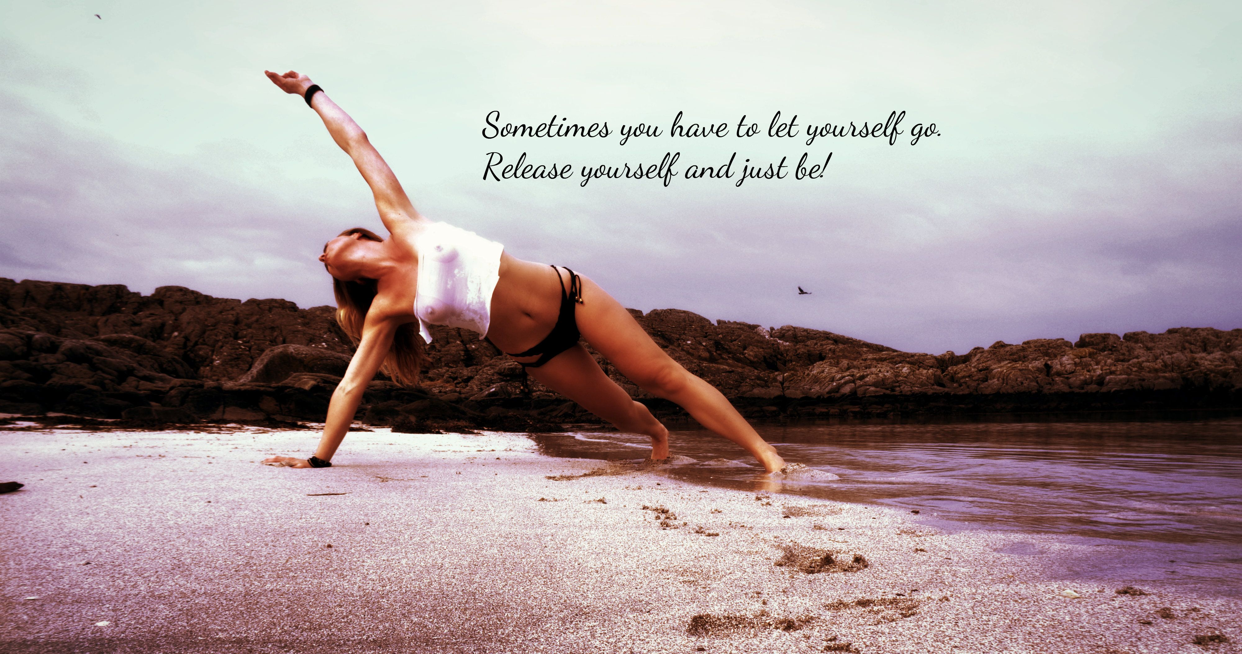 Sometimes you have to let yourself go. Release yourself and just be! #Love #Life #MyBeachYoga