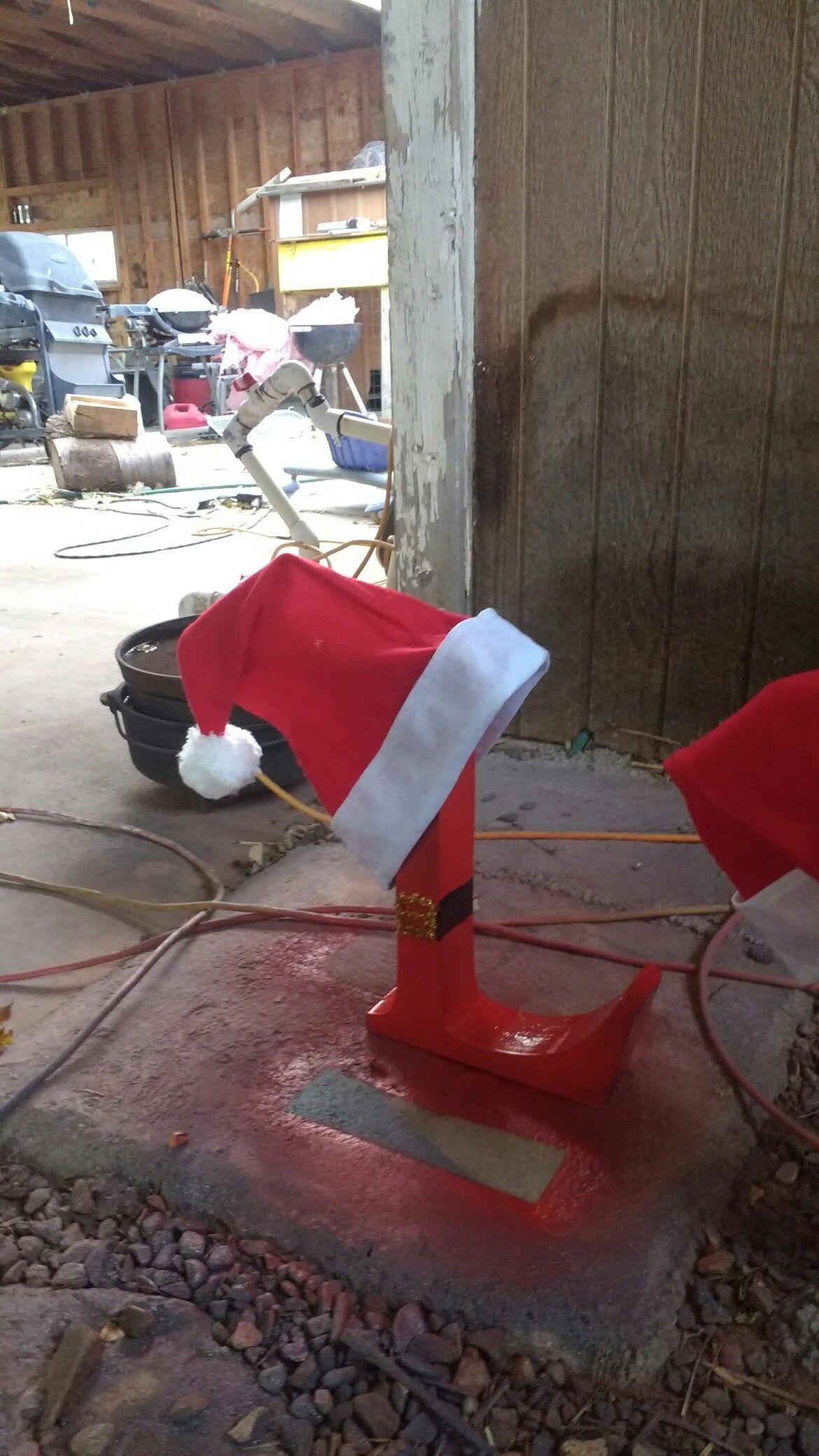 monogram Santa letters Holiday yard decorations, Yard