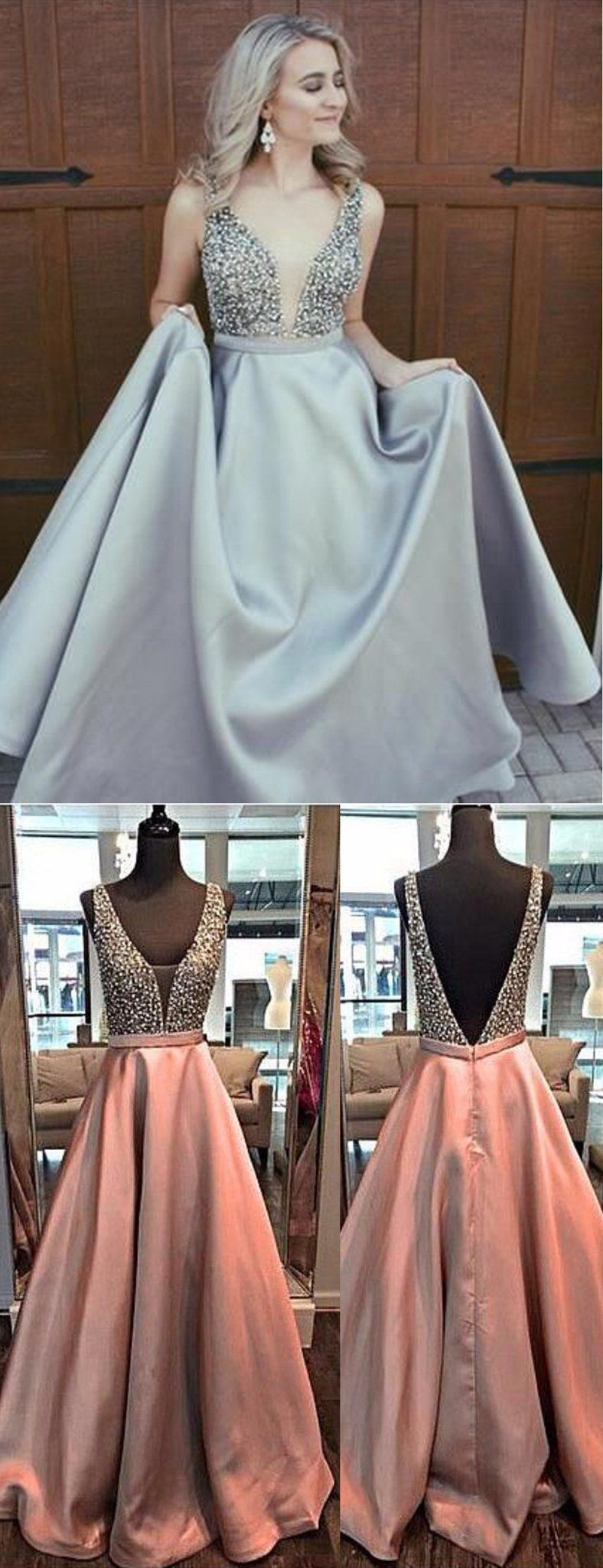 Silver beading soft satin sleeveless formal prom dressespb in