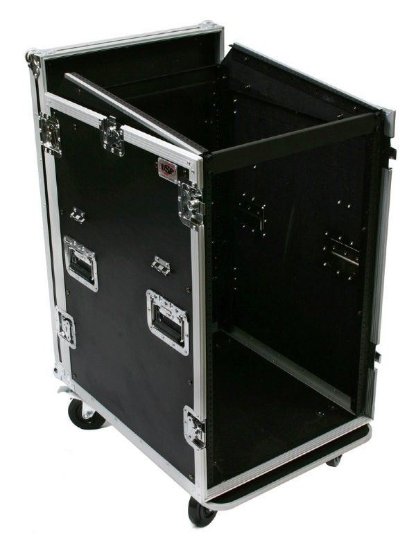 Osp 16 Space 16u Mixer Amp Rack Case With Table Road Cases Rack Design Rack