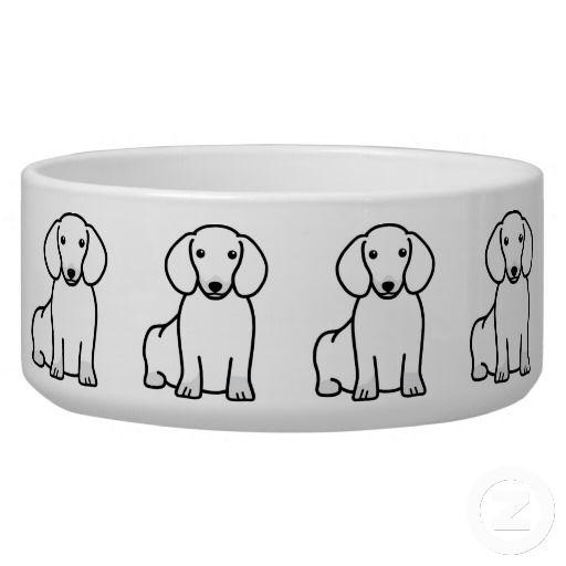 Dachshund Dog Cartoon Pet Food Bowls Dachshund dog