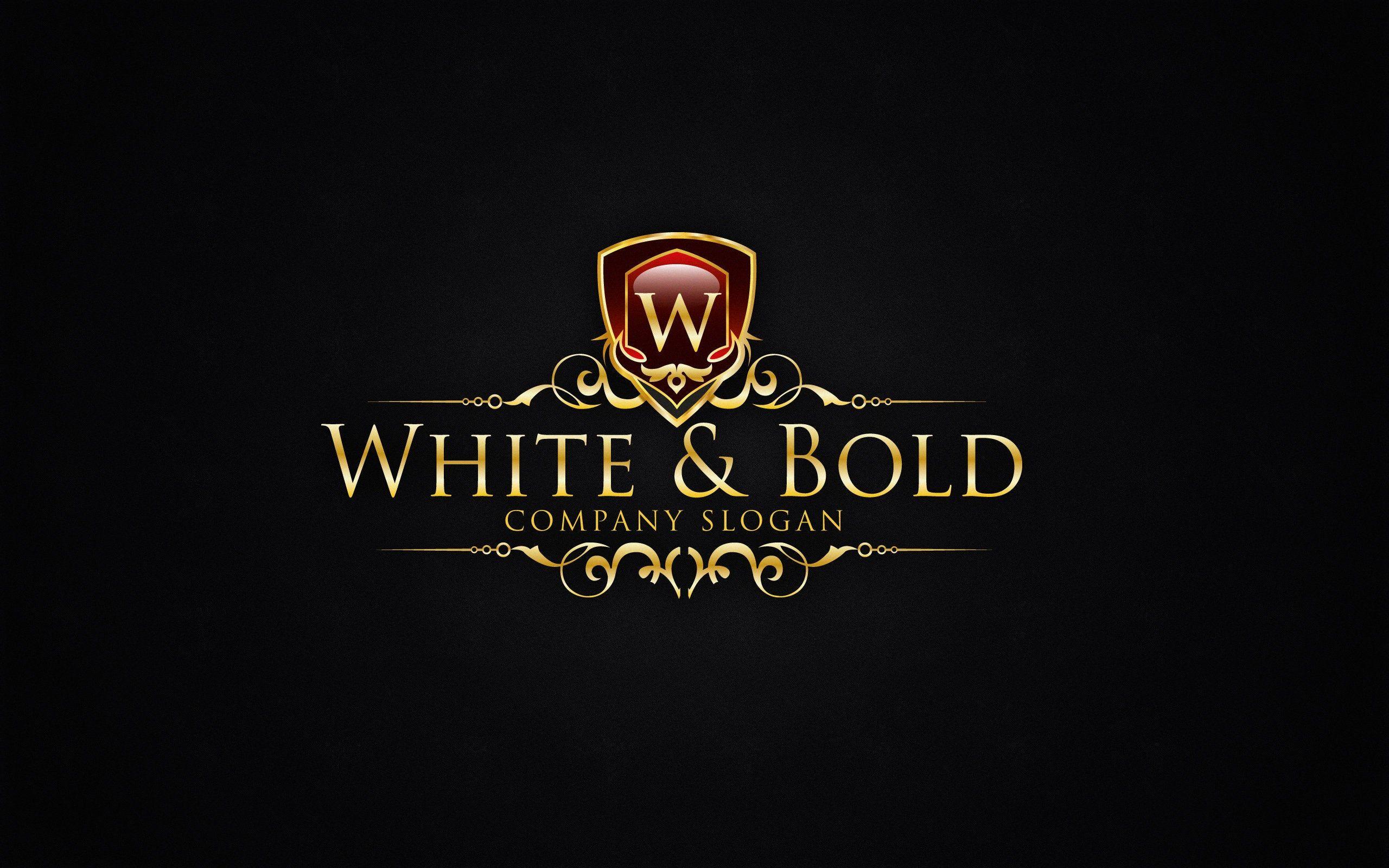 Vintage gold logos Elegant emblem monogram luxury logo