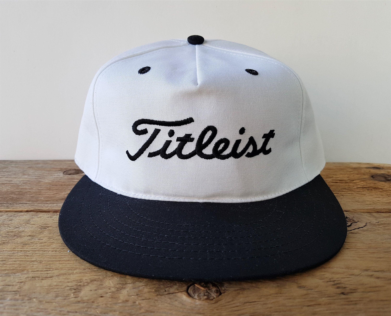 Vintage 90s Titleist Golf Equipment Hat S M Made In Usa By Texace Golfing Pro 98 Plus Apparel Baseball Cap Adjustable 2 Tone Script Ballcap Golf Equipment Hats Titleist Golf